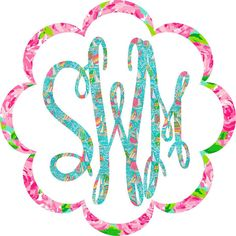 Lilly Pulitzer Keepsake Monogram Decal ($8) ❤ liked on Polyvore featuring random