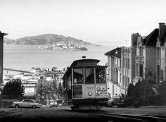 San Francisco Cable Car Alcatraz Fine Art Print