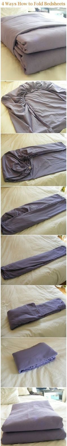 Why does it seem like folding sheets is rocket science? Where has this tutorial been?