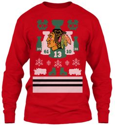 Get this Chicago Blackhawks Patches Crew Neck Ugly Sweater at ...