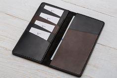 Long Wallet, Pocket Wallet, Black Leather Wallet, Black Wallet, Womens Wallet Pocket Wallet, Small Wallet, Long Wallet, Card Wallet, Handmade Leather Wallet, Brown Leather Wallet, Black Wallet, Black Leather, Wallet Pattern