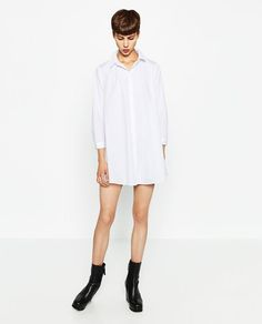 Image 1 de ROBE EN POPELINE de Zara