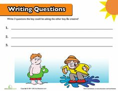 Worksheets: Creative Writing for Kids: Writing Questions