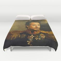 Robert Downey Jr. - replaceface Duvet Cover