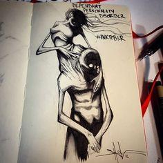 enfermedades mentales ilustradas por Shawn Coss durate el inktober 2016 10