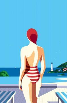 Malika Favre illustration for Floriat Hotel Group (via hoodoothatvoodoo)
