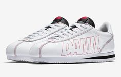 49815ced NEW Nike Cortez Kenny 1 Kendrick Lamar classic white leather og damn low red