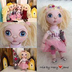 Mery-Jane / Mia Plushies, Princess Zelda, Dolls, Anime, Handmade, Fictional Characters, Art, Baby Dolls, Art Background