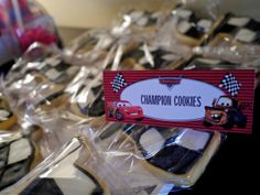 Cookies at a Race Car Party #racecar #partycookies