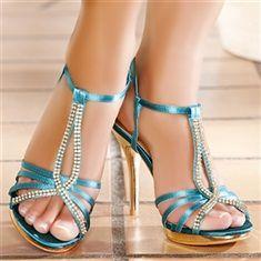 Teal/Green women's heels