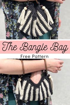 This versatile bag has so much potential to be anything you want it to be! Once you get the basic concept, the sky is literally the limit. It's a great project for scrap yarn, as it uses very little. This is a easy crochet pattern that includes instructions on how to line your bag with your favorite fabric. #Crochet #FreePattern #Bag #Purse #Bernat Crochet Purse Patterns, Crochet Clutch, Tote Pattern, Crochet Purses, Crochet Bags, Modern Crochet, Crochet Fashion, Crochet Accessories, Crochet Designs