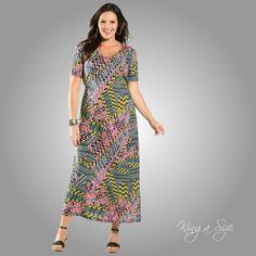 Sommer Kleid * Freizeitkleid * Etuikleid * Sommerkleid - 100% Cotton Gr.46  NEU