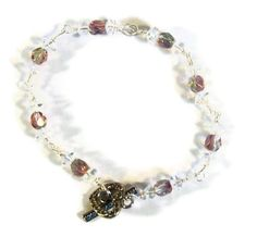 Wire Wrapped Beaded Bracelet with Clear by whatsingramasdrawers, $12.00