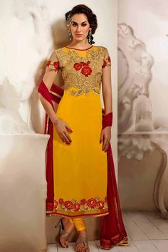 #party #salwar #suits @  http://zohraa.com/yellow-faux-georgette-designer-salwar-kameez-z1161p24766-1-e.html #salwar #suits #celebrity #anarkali #zohraa #onlineshop #womensfashion #womenswear #bollywood #look #diva #party #shopping #online #beautiful #beauty #glam #shoppingonline #styles #stylish #model #fashionista #women #lifestyle #fashion #original #products #saynotoreplicas (Shipping : Your order will be shipped within 1 day from the date of purchase)