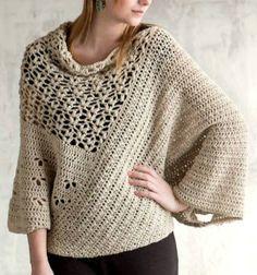 Patrón #807: Poncho a Crochet                                                                                                                                                                                 Más