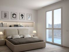 How to furnish a headboard niche - How to furnish a headboard niche You are in the right place about soggiorno colori Here we offer yo - Bedroom Photos, Home Bedroom, Master Bedroom, Bedroom Decor, Modern Bedroom Design, Home Staging, New Homes, House Design, Interior Design