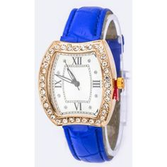 Women's Blue Iconic Crystal Case Fashion Watch