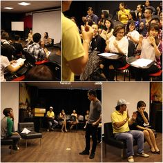 07.03.2015 - ACTING WORKSHOP. Speakers: Mrs.Ngọc Hiệp (Director of BHD Company) and Mr.Thành Danh (teacher of Body languages class). The students also tryed to cast for films.