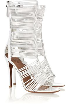 Alaïa Multi-Strap Leather Sandals-wrap em up!!  Great with a short little shift knit dress in the spring.