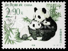 color/design inspiration: China pandas postage stamp stock photo 6932767 - iStock