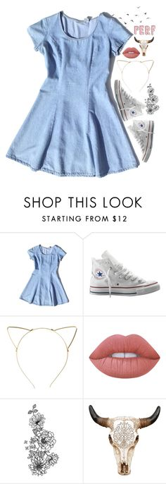 """""""Perf"""" by sunflower-seeds ❤ liked on Polyvore featuring Converse, BP. and Lime Crime"""