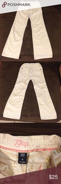 """Gap Kids Corduroy Pants """"PLEASE MAKE SURE ITEM IS STILL AVAILABLE BEFORE PURCHASING🤓  Good condition,no stains,no holes,gap kids corduroy pants,cream color,adjustable waist,size 6 slim,pink,tan,yellow inside lining. FAST SHIPPING,SAME OR NEXT DAY MON-SAT OFFERS ARE WELCOME😎 GAP Bottoms Casual"""