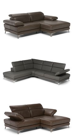 Komfort zapewniają duże siedzenia i regulowany ręcznie zagłówek. #furniture #interiordesign #sofa #natuzzi #home #meble #kanapy #armchair #sofas #cornersofa Sofas, Couch, Fresh, Furniture, Home Decor, Couches, Settee, Decoration Home, Canapes