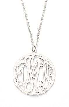 Argento Vivo Personalized 3-Letter Monogram Necklace available at #Nordstrom