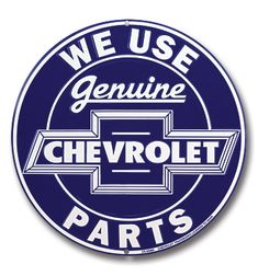 Plaques & Signs Chevrolet Genuine Parts Round Metal Sign Garage Embossed Chevy Retro Decor & Garden Lifted Trucks, Old Trucks, Pickup Trucks, Dually Trucks, Truck Drivers, Diesel Trucks, Chevrolet Parts, Chevrolet Trucks, Chevrolet Emblem