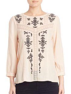 JOIE Jewelneck Cotton Top. #joie #cloth #top