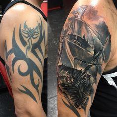 Tribal Tattoo Cover Up, Tribal Cover Up, Cover Up Tattoos For Men, Back Tattoo Women, Back Tattoos, Cover Tattoo, Life Tattoos, Tattoos For Guys, Tattoos For Women