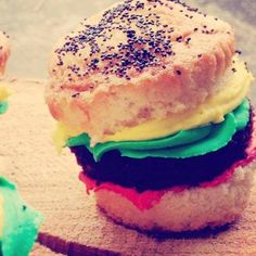 Hamburger cupcakes for Father's day! We call em' Daddy Patties