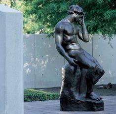 "Émile-Antoine Bourdelle, ""Adam"", 1888-89, Bronze, Current location: The Cullen Sculpture Garden at the Museum of Fine Arts, Houston"