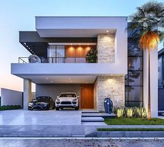 Modern Exterior House Designs, Modern House Facades, Modern Architecture House, Modern House Plans, Exterior Design, House Outside Design, House Front Design, Small House Design, Architect Design House