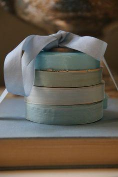 Vintage shades of blue seam binding