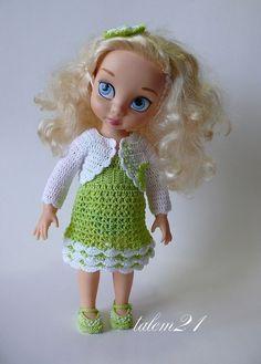 Disney Toddler Dolls, Disney Dolls, Crochet Doll Clothes, Crochet Dolls, Disney Animators Collection Dolls, Cinderella Doll, Crochet Fashion, Girl Dolls, Disney Princess