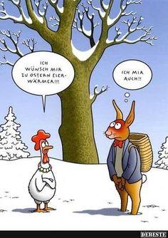 Ich wünsch mir zu Ostern Eierwärmer! | Lustige Bilder, Sprüche, Witze, echt lustig