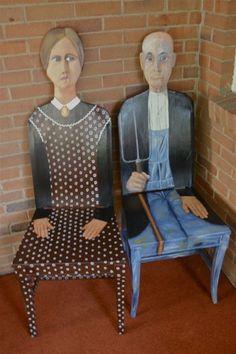 "Grant Wood ""American Gothic"" | FendosArt - Furniture on ArtFire"