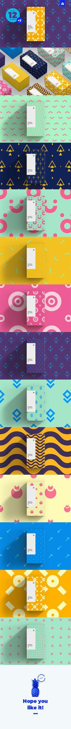 Set of Minimal Patterns vol 2 #funny #background Download : https://graphicriver.net/item/set-of-minimal-patterns-vol-2/21464118?ref=pxcr