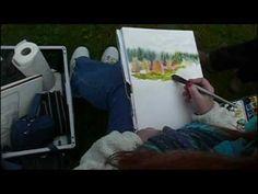Démonstration d'aquarelle par Josette Mercier-Kornmayer