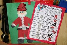 Shop for Santa's Suit money activity