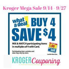 KROGER MEGA SALE FULL LIST 09/14 – 09/28