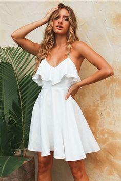 On The Run Again Dress White