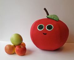 Apple Pillow Throw Pillow HANDMADE by ProjectOrange on Etsy $30.00 on sale now!