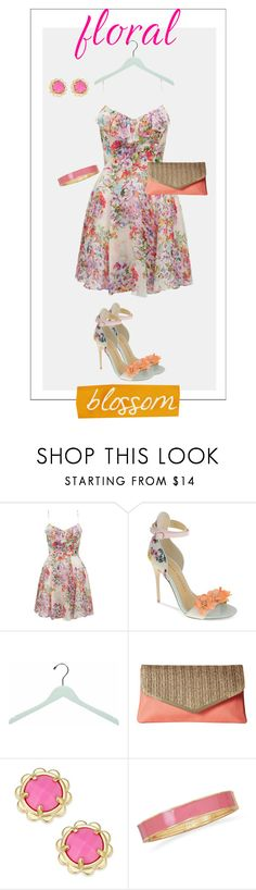 """""""Short Floral Blossom"""" by mermadem8 ❤ liked on Polyvore featuring Forever New, Chinese Laundry, Jessica McClintock, Kate Spade, BillyTheTree, Summer, florals, floraldress, contestentry and floraldresses"""