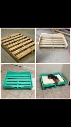40 of the Most Incredible Ideas & DIY you need to try! DIY PALLET DOG BEDwhat a great idea & looks so easy to make! Featured on our BEST Pallet ideas! The post 40 of the Most Incredible Ideas & DIY you need to try! appeared first on Wood Diy. Diy Dog Bed, Diy Bed, Wood Dog Bed, Pet Beds Diy, Homemade Dog Bed, Pallet Crafts, Diy Pallet Projects, Pallet Diy Easy, Pallet Dog Beds