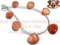 Tanzanian Sunstone Smooth Heart (Quality A) Shape: Heart Smooth Length: 18 cm Weight Approx: 12 to 14 Grms. Size Approx: 12 to 17 mm Price $35.70 Each Strand