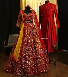 Looking for a budget lehenga store in Delhi? Check out the collection by Ricco India. Lehenga prices start from INR and they even do banarasi lehengas. Long Prom Dresses Uk, Party Wear Indian Dresses, Indian Wedding Gowns, Designer Party Wear Dresses, Indian Gowns Dresses, Indian Bridal Outfits, Indian Bridal Fashion, Indian Bridal Wear, Wedding Dresses For Girls