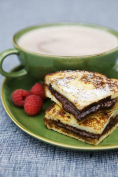 Nutella Stuffed French Toast Sandwiches: Nutella Stuffed French Toast, Cut into Quarters / Rob White / Getty Images