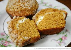 Pumpkin and Cream Cheese Muffins with Pecan Streusel at Ezra Pound Cake.  Yay! Autumn!